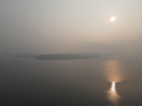 McNeil Island in smoke haze