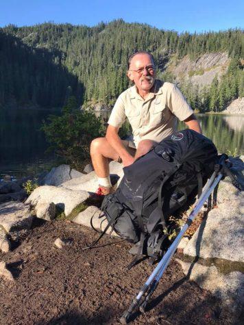 Mr Clark backpacking