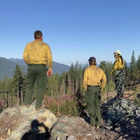 Fire crew in Eastern Washington