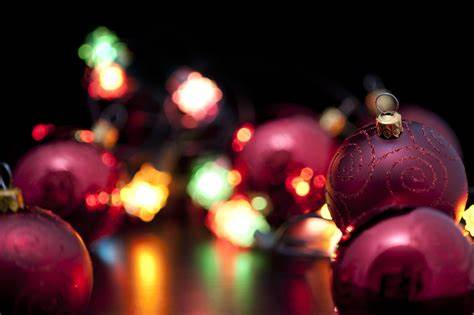 Ornaments and Christmas lights