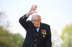 Captain Sir Tom Moore, man who raised 33 million pounds for healthcare workers dies at the age of 100 years old.