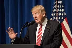 Donald Trump doing a speech