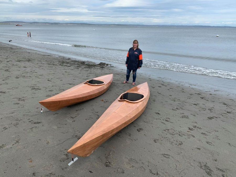 karen Mauer Smith and her kayaks